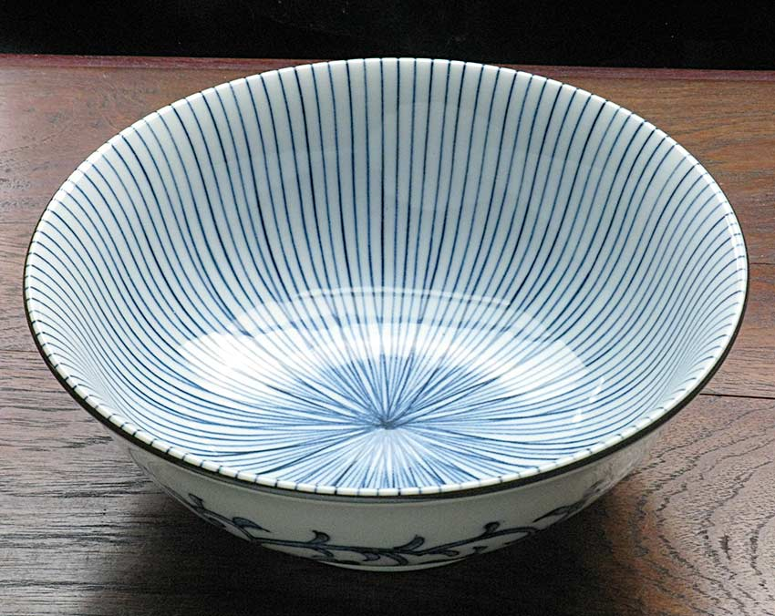 Blue u0026 White Arita Udon Bowl - Bamboo Forest - Japanese Dinnerware Japanese Tableware & Blue u0026 White Arita Udon Bowl - Bamboo Forest - Japanese Dinnerware ...